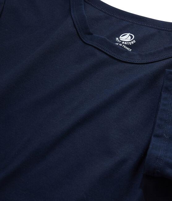Women's Sea Island cotton T-shirt Marine blue
