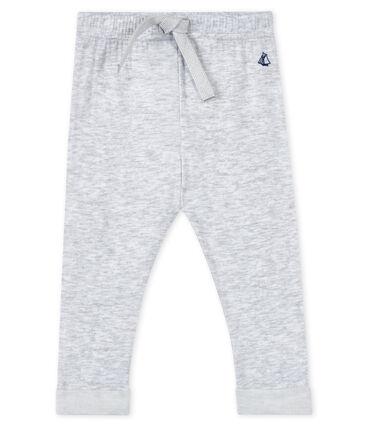 Baby boy's trousers Poussiere grey / Lait white