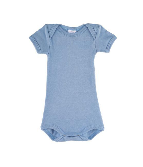 Baby Boys' Short-Sleeved Bodysuit Acier blue