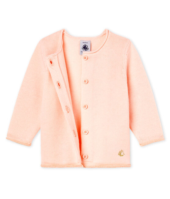 Baby Girls' Wool/Cotton Knit Basic Cardigan FLEUR