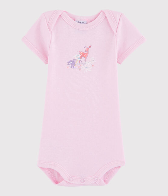 Unisex Babies' Short-Sleeved Bodysuit Doll pink