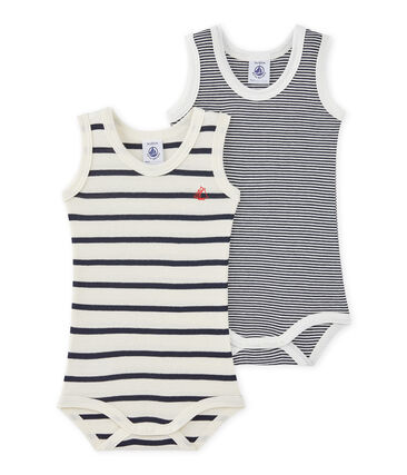 Pack of 2 baby boy sleeveless striped bodysuits