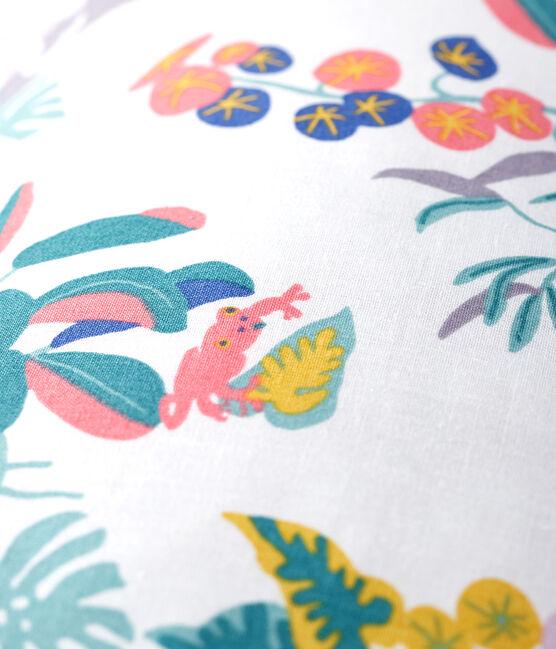Jungle Print Poplin Cushion Marshmallow white / Multico white