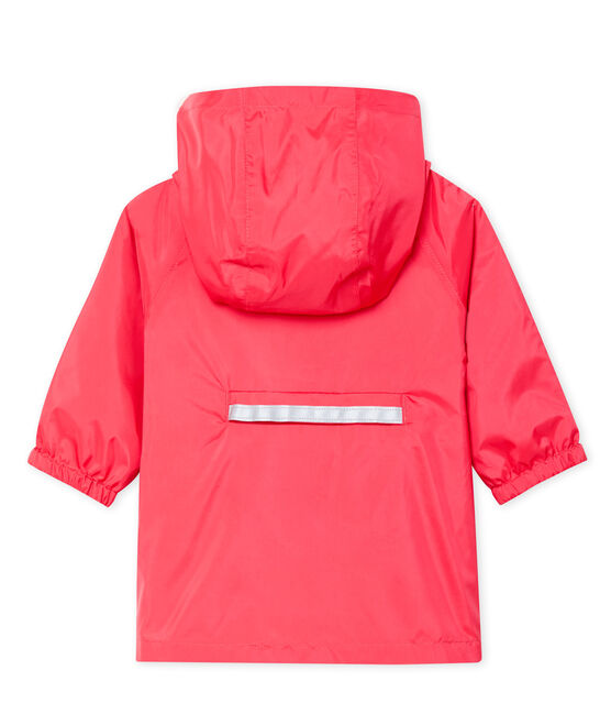 Baby girls' reversible windbreaker Groseiller pink / Crystal blue