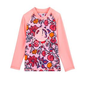 Girl's Eco-Friendly UPF 50+ Anti-UV T-Shirt Patience pink / Multico white