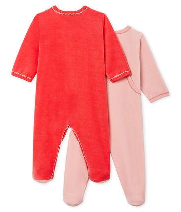 Baby Girls' Velour Sleepsuit - 2-Piece Set