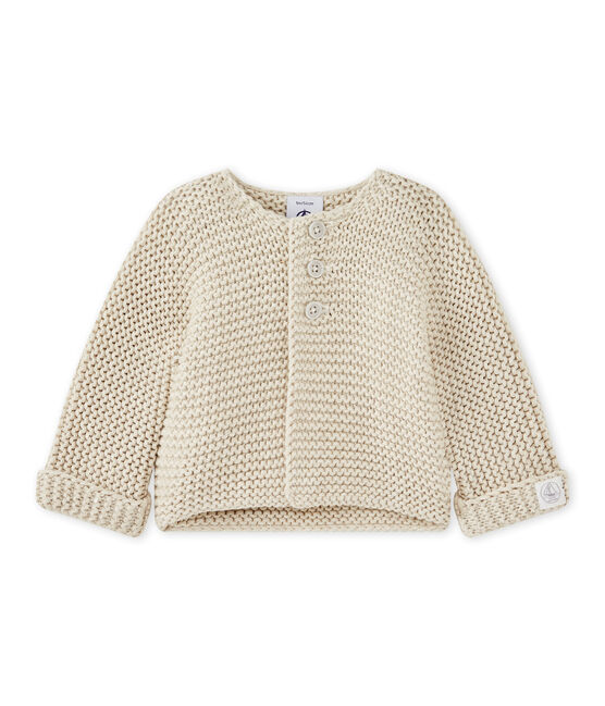 Unisex baby moss stitch cardigan Montelimar Chine grey