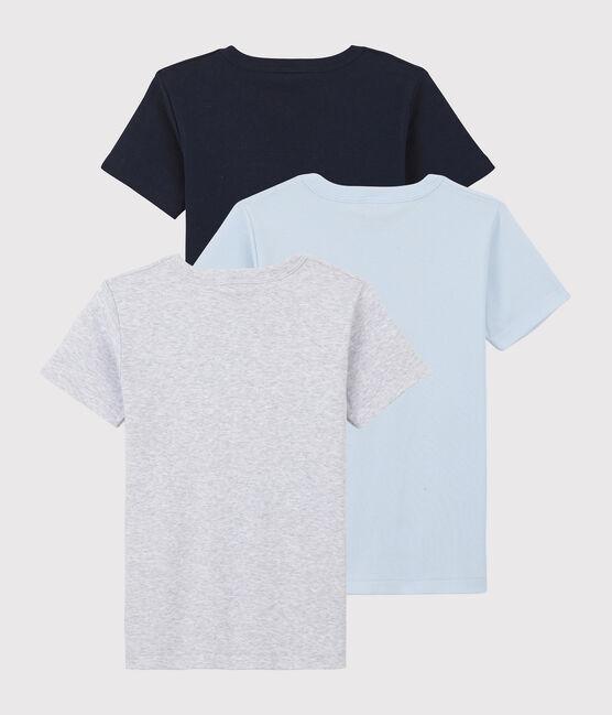 Boys' Short-Sleeved Plain Organic Cotton T-shirts - 2-Pack . set