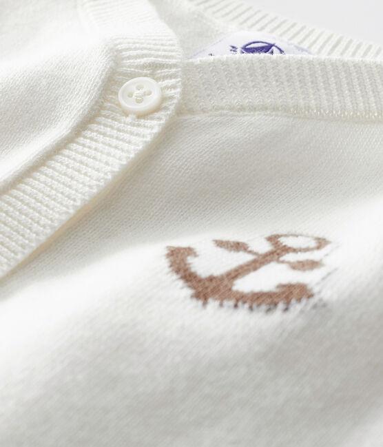 Baby Boys' Cardigan Marshmallow white