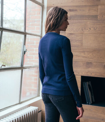 Women's Iconic Cardigan Smoking blue