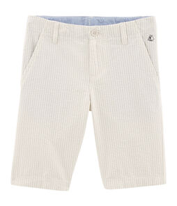 Boys' Bermuda Shorts beige Beige / Marshmallow white