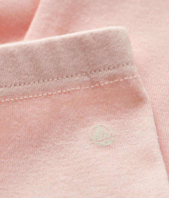 Baby girl's leggings in plain 1x1 rib knit Minois pink