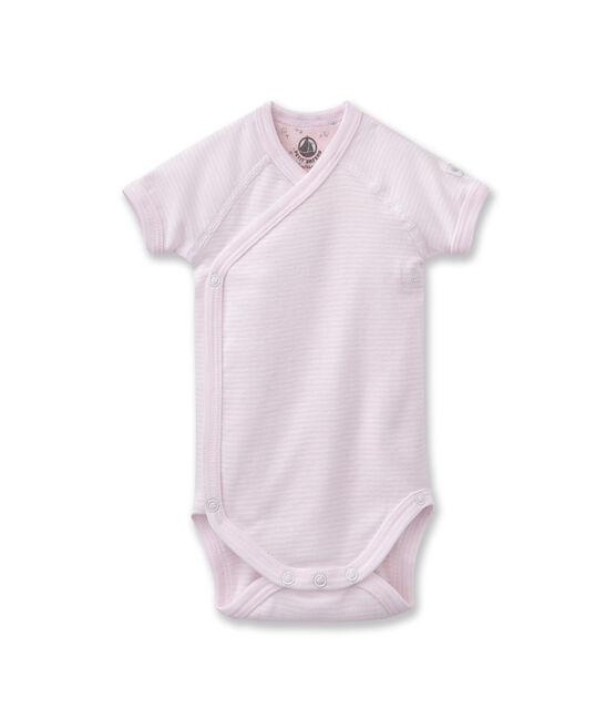 Unisex newborn baby milleraies bodysuit Vienne pink / Ecume white