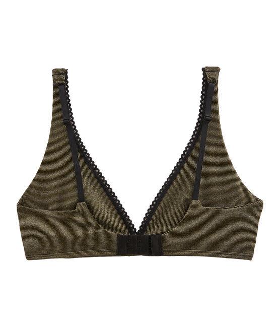 Women's Triangle Bra Noir black / Or yellow