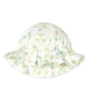 Unisex Baby Hat Marshmallow white/Amandier green