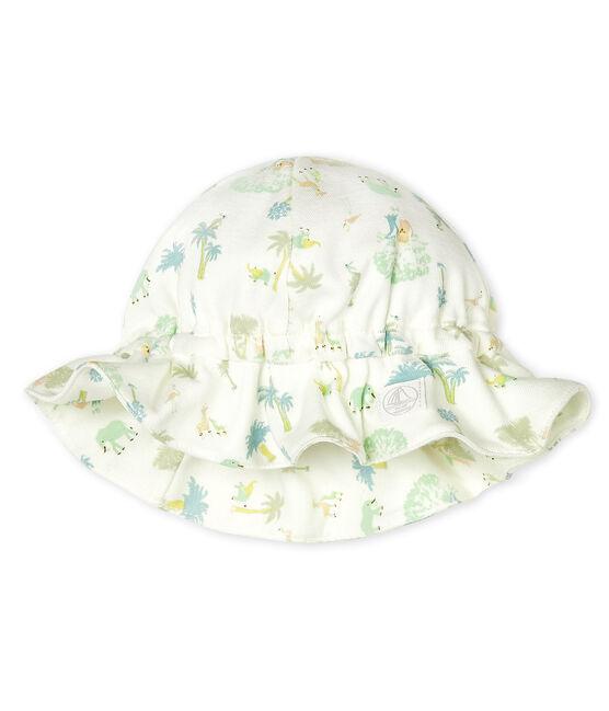 Unisex Baby Hat Marshmallow white/Amandier green