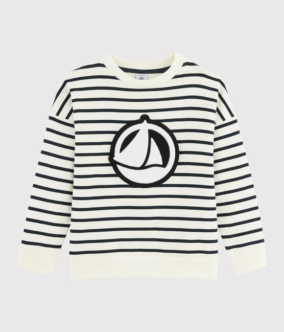 Boys' Sweatshirt Marshmallow white / Smoking blue