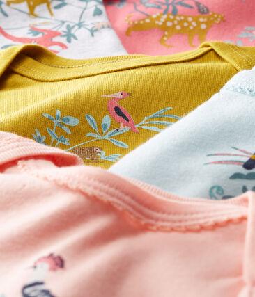Baby Girls' Short-Sleeved Bodysuit - Set of 5