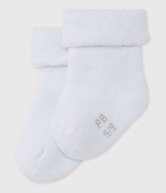 Babies' Terry Socks Ecume white