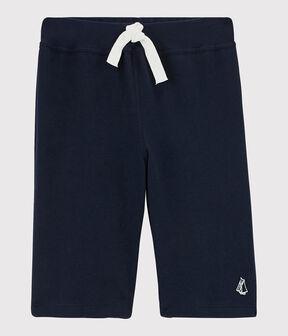 Boys' Jersey Bermuda Shorts Smoking blue