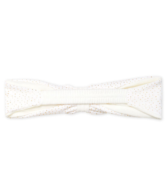 Baby Girls' Tulle Headband Marshmallow white / Copper pink