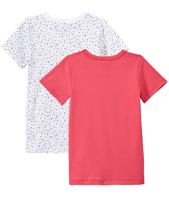 Set of 2 girls' short-sleeved t-shirts . set