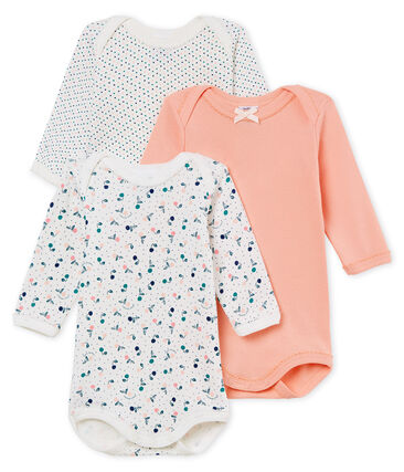 Baby Girls' Long-Sleeved Bodysuit - Set of 3