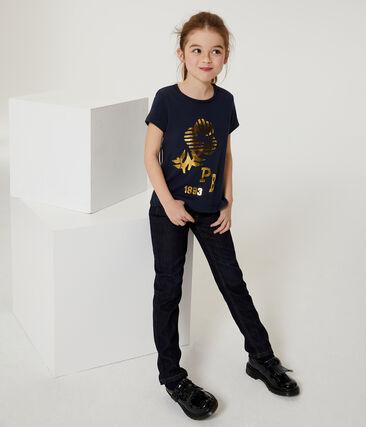 Girls' Short-sleeved T-shirt Smoking blue