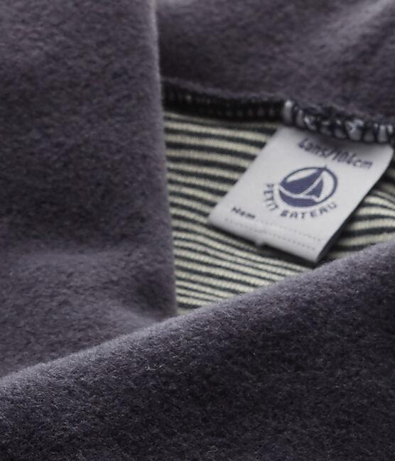 Boy's fleece cardigan Smoking blue