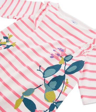 Girls' T-Shirt Marshmallow white / Cupcake pink