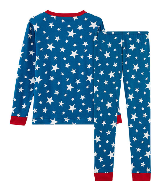 Boys' Snugfit Pyjamas Major blue / Ecume white