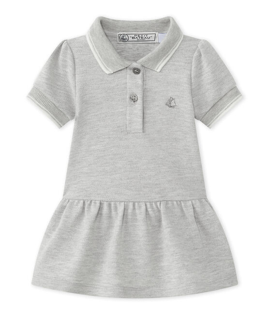 Baby girl's short-sleeved dress Beluga Chine grey