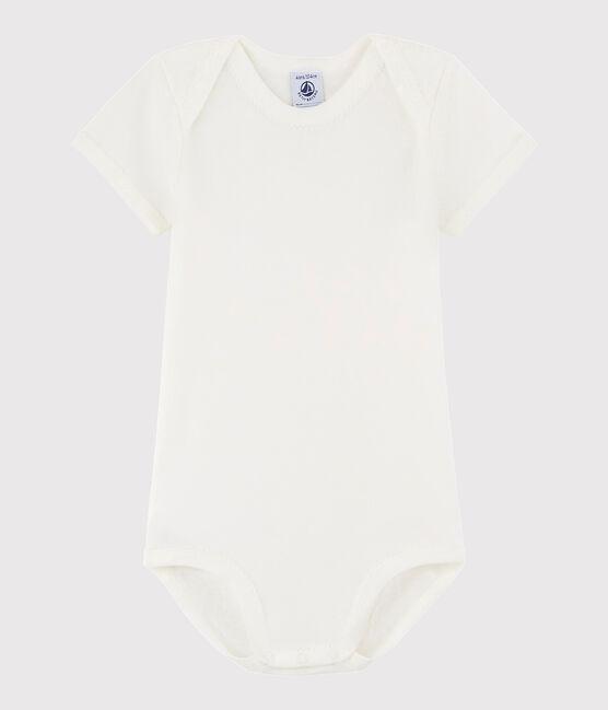 Baby Girls' Short-Sleeved Bodysuit Lait white