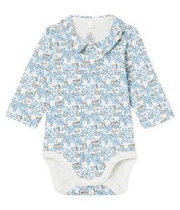 Newborn Baby Boys' Long-Sleeved Ribbed Bodysuit