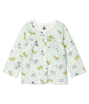 Baby Girls' Print Fleece Cardigan Marshmallow white / Multico white