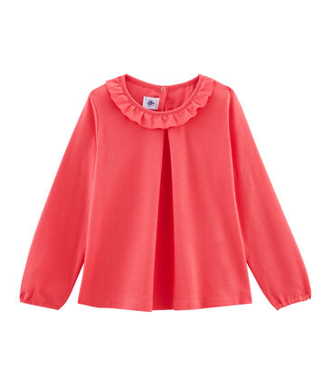 Girls' Long-Sleeved T-shirt Signal red