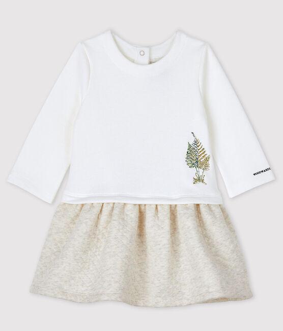 Baby Girls' Petit Bateau x Deyrolle Dress Marshmallow white