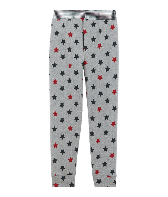 Little boy's pyjama bottoms Subway grey / Multico white