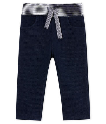 Baby boys' plain jersey trousers