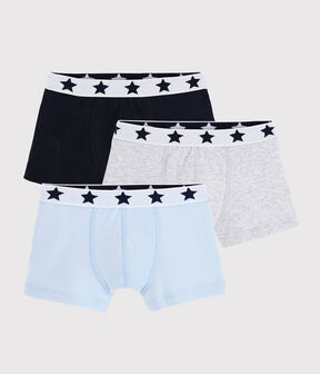 Boys' Plain Organic Cotton Boxer Shorts - 3-Pack . set