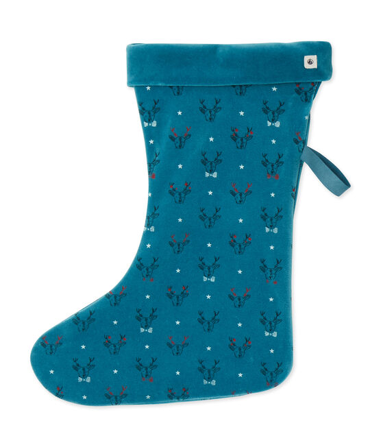Christmas stocking Contes blue / Multico white