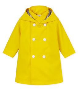 Baby girls' fleece-lined raincoat