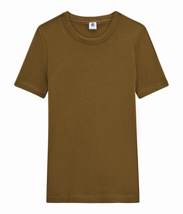 women's short sleeved t-shirt Autumn brown