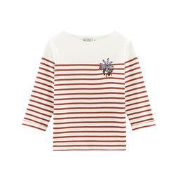 Women's long-sleeved stripy breton top