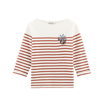 Women's long-sleeved stripy breton top