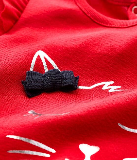 Baby girl's long-sleeved blouse Terkuit red