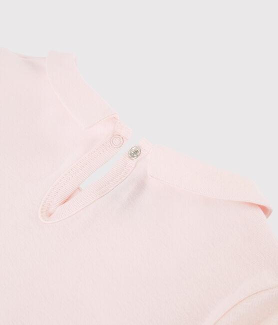 Girls' Long-sleeved Cotton T-Shirt Fleur pink