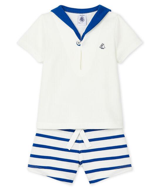 Baby Boys' Clothing - 2-Piece Set Marshmallow white / Surf blue