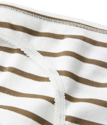 Women's striped cotton pants