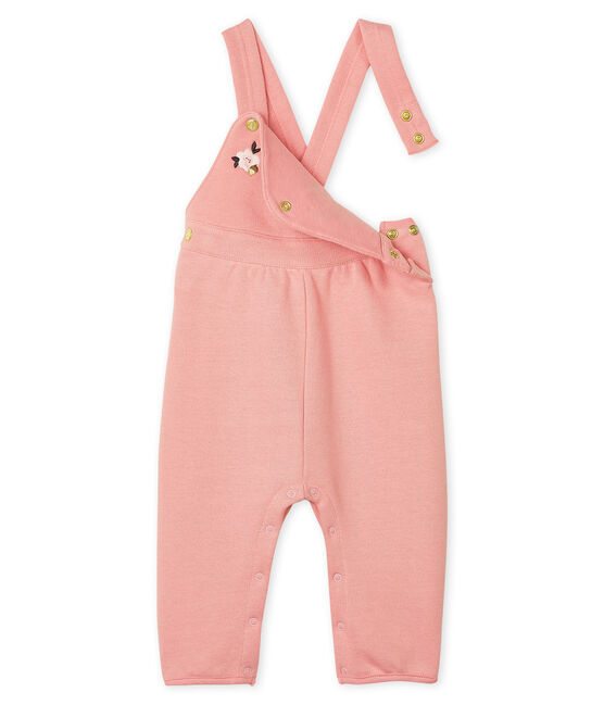 Baby Girls' Long Fleece Dungarees Charme pink